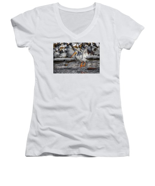 Ice Jump Women's V-Neck (Athletic Fit)
