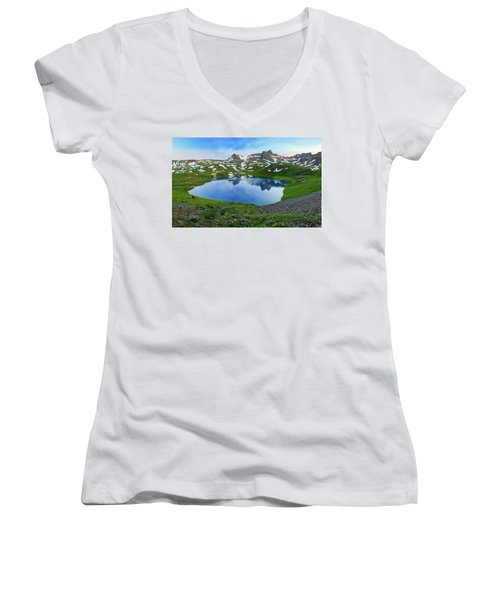 Ice Lake Panorama Women's V-Neck (Athletic Fit)
