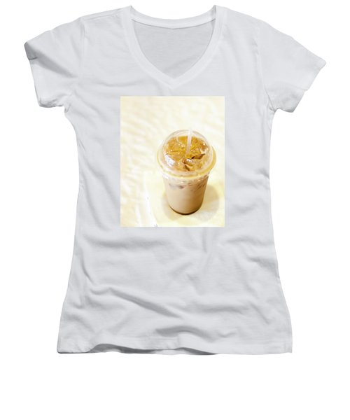 Iced Coffee 1 Women's V-Neck (Athletic Fit)