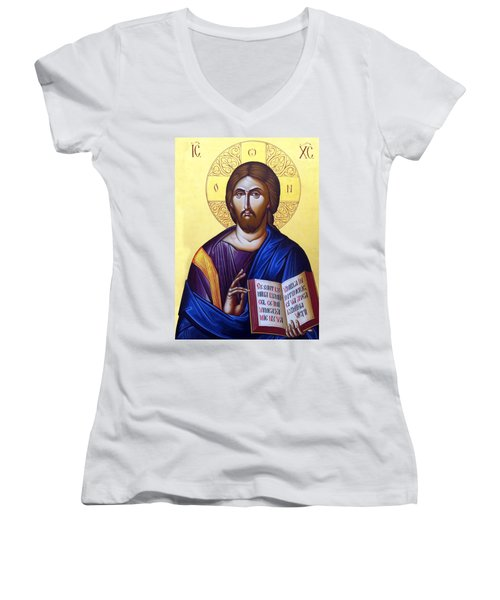 Icon Of Christ In Jericho Women's V-Neck (Athletic Fit)