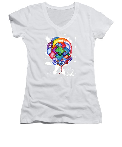 Ideas Born Women's V-Neck (Athletic Fit)