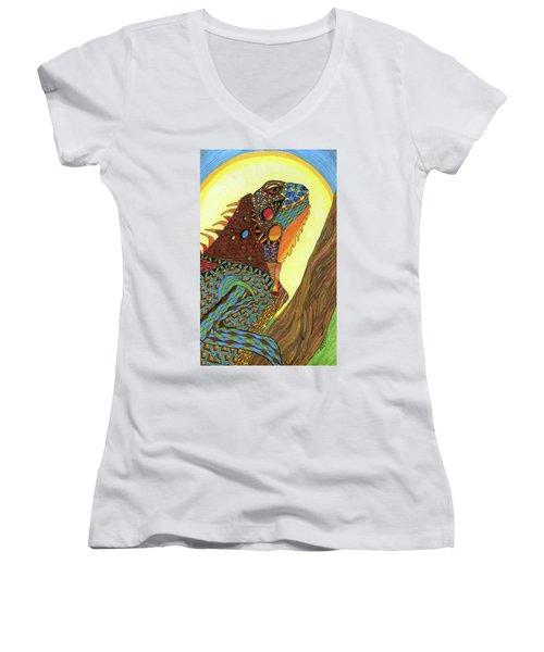 Iguana Women's V-Neck (Athletic Fit)
