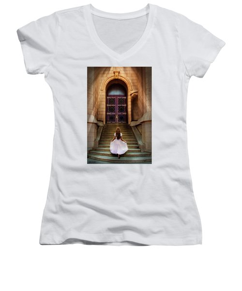 I'm Going There Some Day Women's V-Neck (Athletic Fit)
