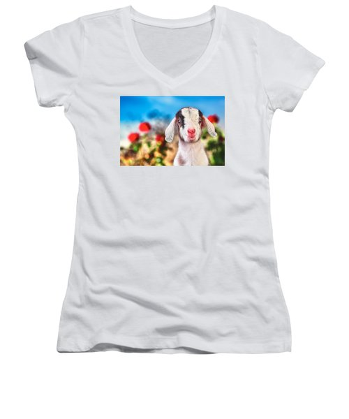 I'm In The Rose Garden Women's V-Neck T-Shirt