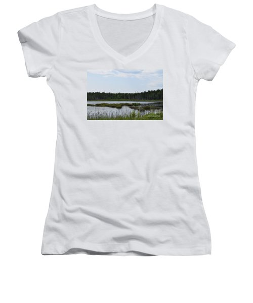 Images From Mt. Desert Island Maine 1 Women's V-Neck T-Shirt