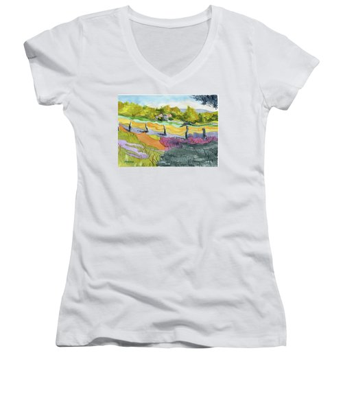 Imagine The Colors Women's V-Neck (Athletic Fit)