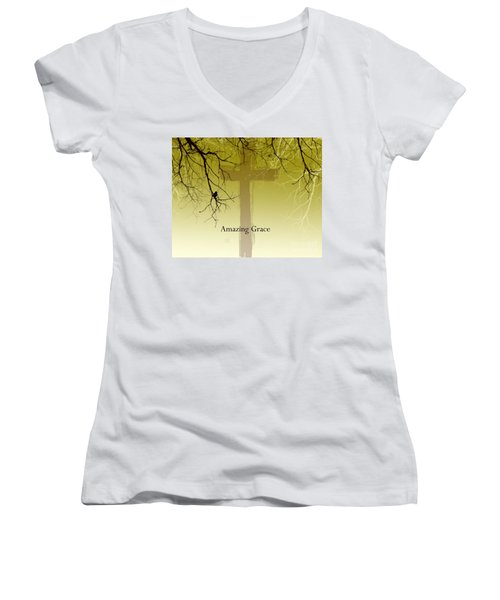 Immanuel- My Saviour Women's V-Neck (Athletic Fit)