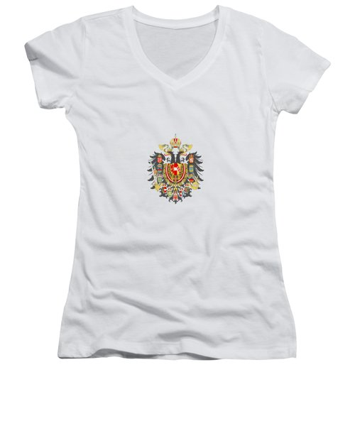 Imperial Coat Of Arms Of The Empire Of Austria-hungary Transparent Women's V-Neck
