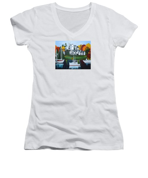 Impressions Of New England Two Women's V-Neck T-Shirt