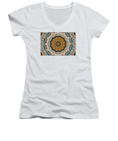Women's V-Neck T-Shirt featuring the digital art Impressions by Wendy J St Christopher