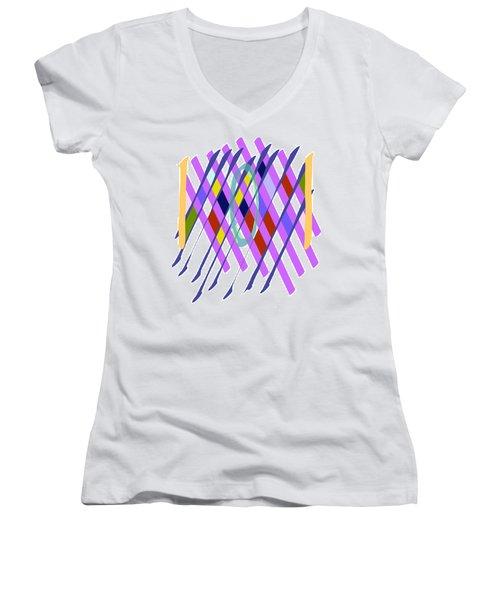 Improvised Geometry #1 Women's V-Neck