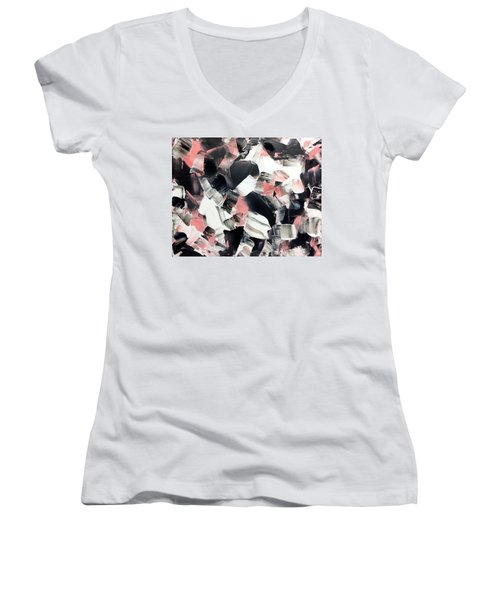 In Abstraction- Pbw No.3 Women's V-Neck (Athletic Fit)