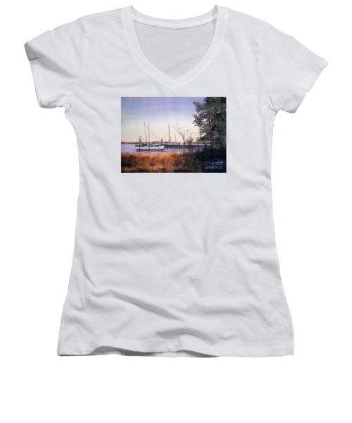 In For The Night Women's V-Neck T-Shirt