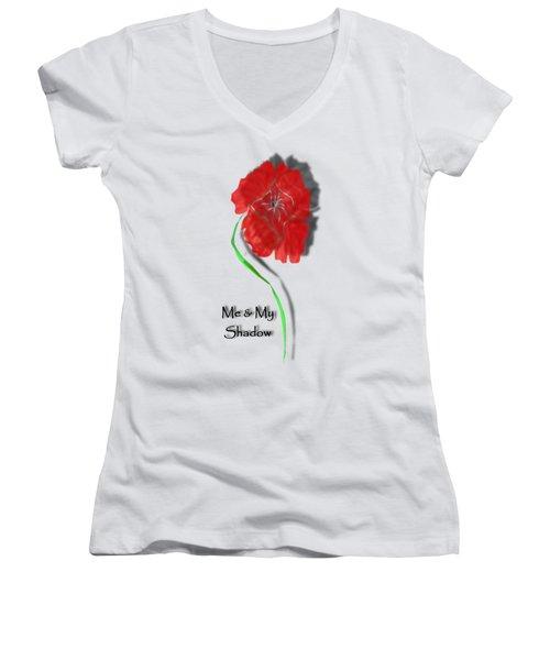 In Remembrance Poppy Women's V-Neck