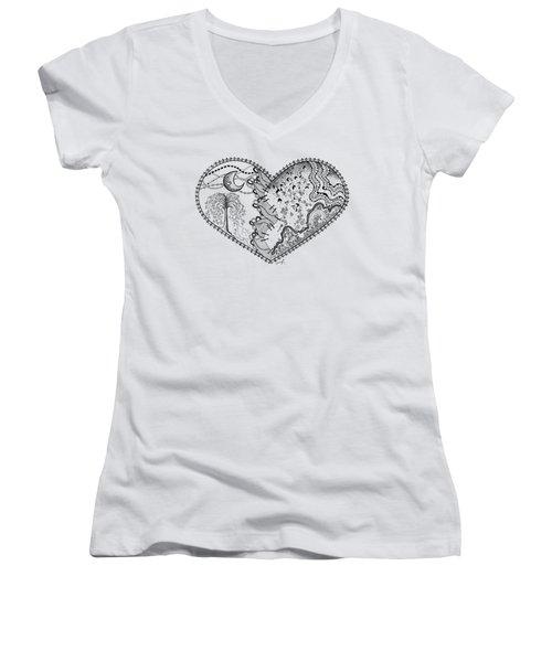 Repaired Heart Women's V-Neck T-Shirt