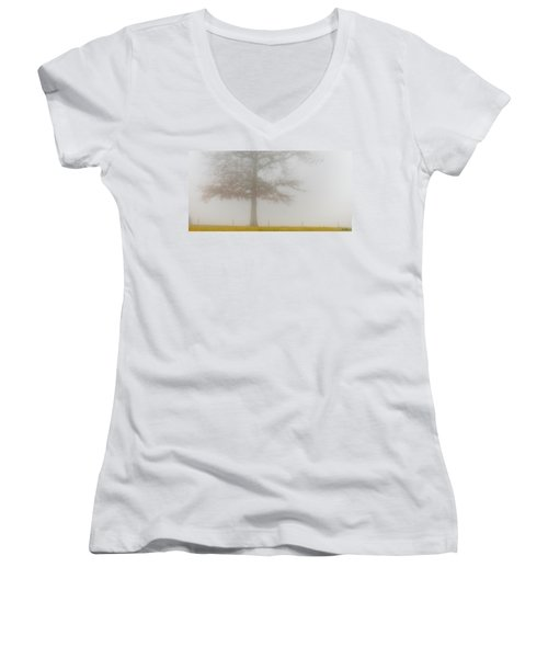 Women's V-Neck T-Shirt (Junior Cut) featuring the photograph In Retrospect by Skip Tribby