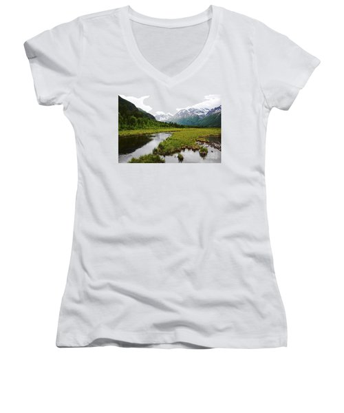 In Road To Denali Women's V-Neck (Athletic Fit)