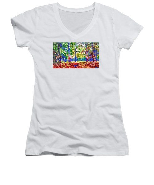 In Spite Off The Trees Women's V-Neck (Athletic Fit)