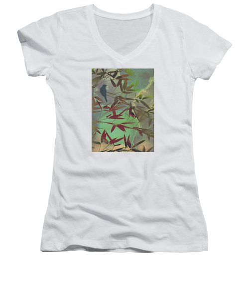 In The Bamboo Forest Women's V-Neck (Athletic Fit)