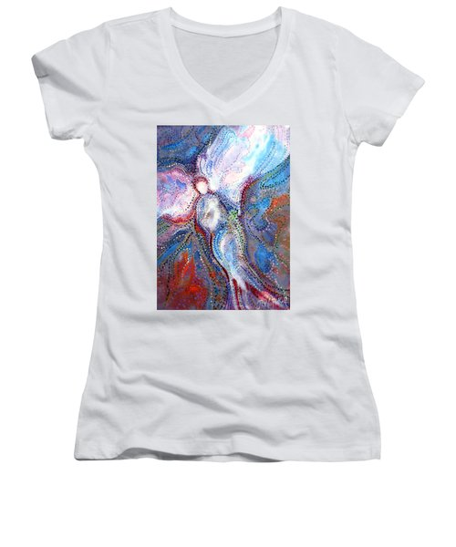 In The Care Of Women's V-Neck T-Shirt (Junior Cut)