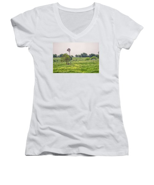 In The Country Women's V-Neck