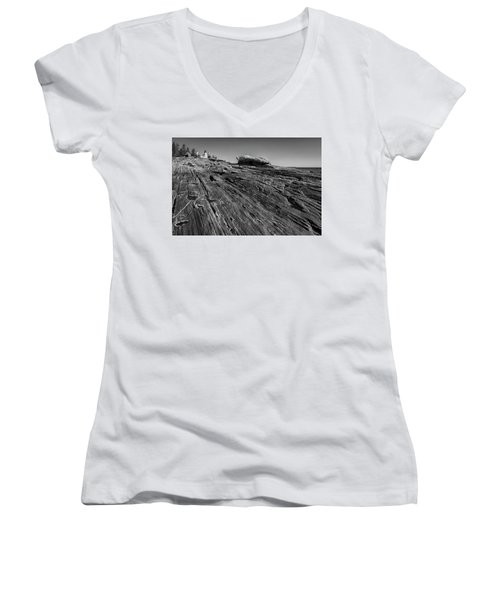 In The Distance Women's V-Neck T-Shirt (Junior Cut) by David Cote