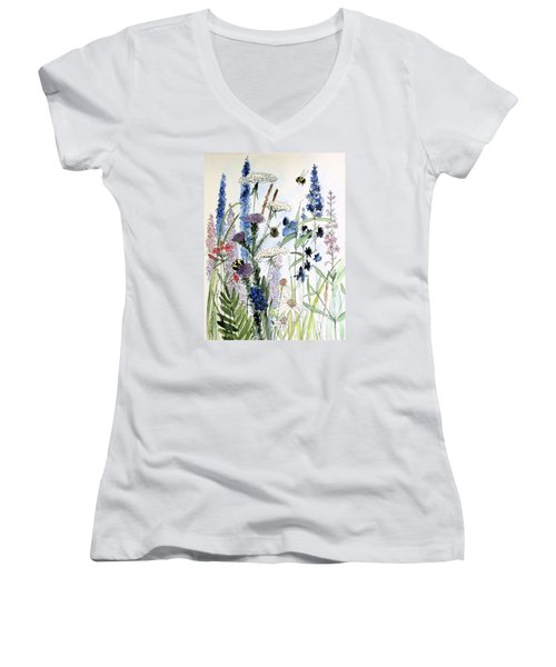 In The Garden Women's V-Neck