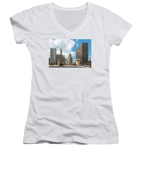 In The Middle Of Wacker And Michigan Women's V-Neck