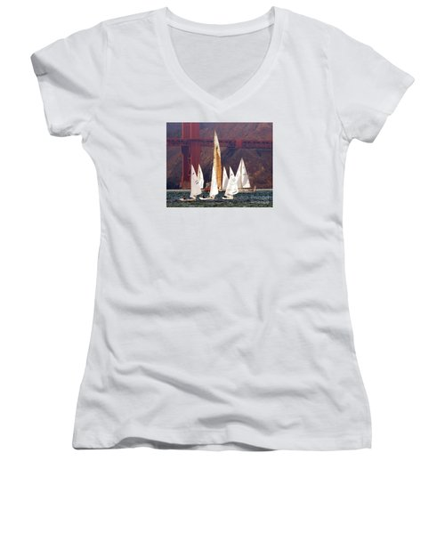 In The Mix Women's V-Neck T-Shirt (Junior Cut) by Scott Cameron