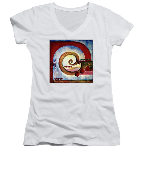 In The World Of Balance Women's V-Neck T-Shirt
