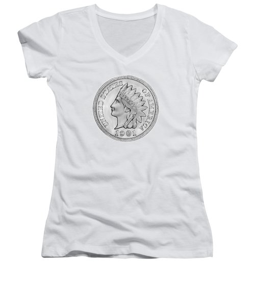 Indian Penny Women's V-Neck (Athletic Fit)