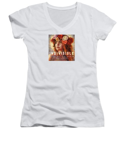 Indivisible Women's V-Neck T-Shirt (Junior Cut) by Mia Tavonatti
