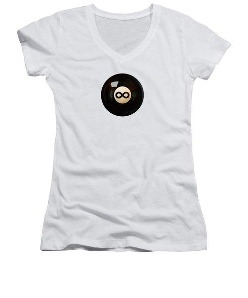 Infinity Ball Women's V-Neck T-Shirt (Junior Cut) by Nicholas Ely