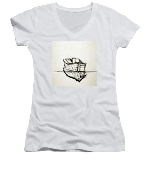 Ink Boat Women's V-Neck