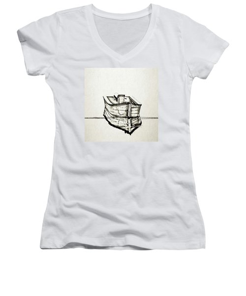 Ink Boat Women's V-Neck