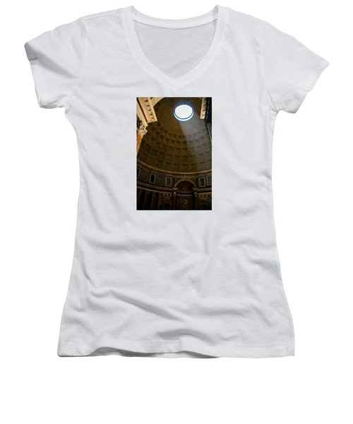Inside The Pantheon Women's V-Neck T-Shirt (Junior Cut) by Rainer Kersten