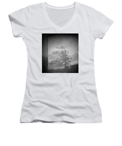 Inside Voice  Women's V-Neck T-Shirt (Junior Cut) by Mark Ross