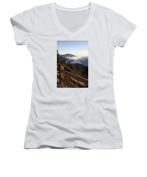 Women's V-Neck T-Shirt (Junior Cut) featuring the photograph Inspiration Point by Ivete Basso Photography