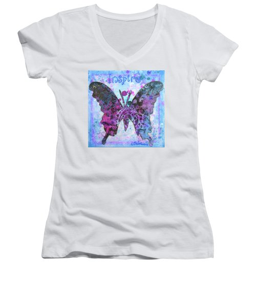 Inspire Butterfly Women's V-Neck