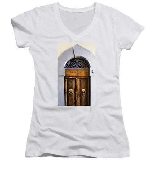Interesting Door Women's V-Neck