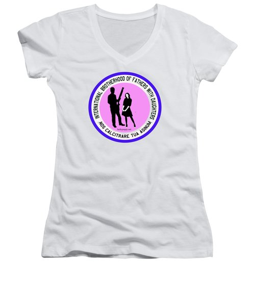 International Brotherhood Of Fathers With Daughters Women's V-Neck (Athletic Fit)