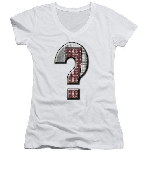 Interrobang 5 Women's V-Neck T-Shirt (Junior Cut) by Brian Wallace