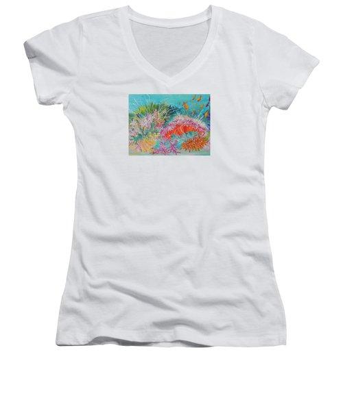 Feeding Time # 3 Women's V-Neck T-Shirt
