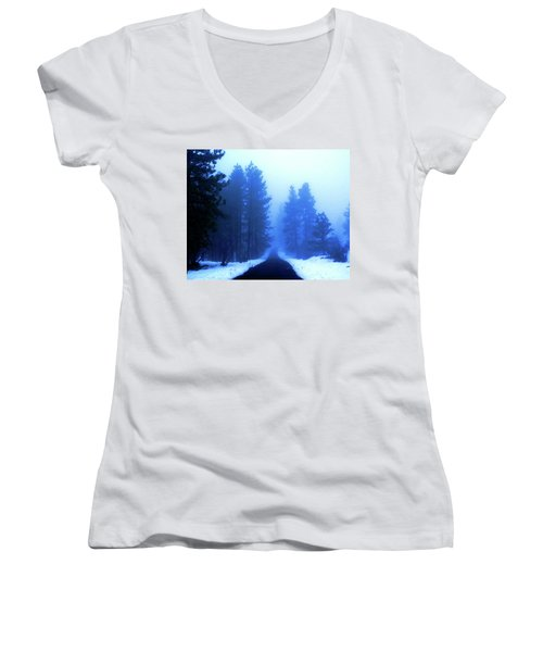 Into The Misty Unknown Women's V-Neck