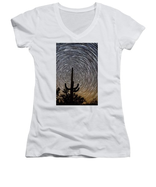 Into The Night Women's V-Neck (Athletic Fit)