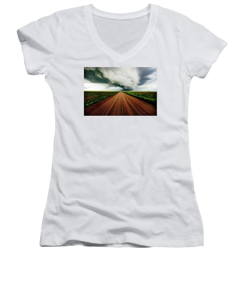 Into The Storm Women's V-Neck