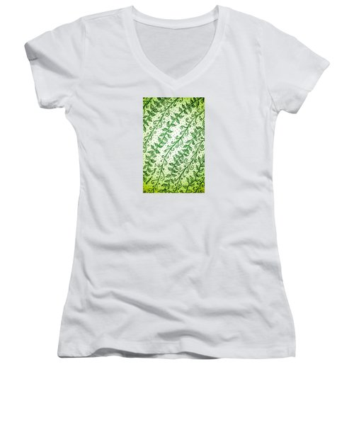 Into The Thick Of It, Green Women's V-Neck