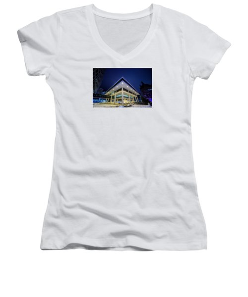 Inverted Pyramid Women's V-Neck T-Shirt