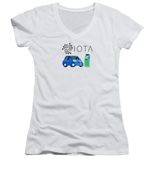 Iota Electric Charger Women's V-Neck (Athletic Fit)