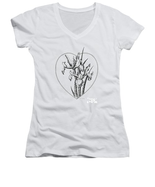 Iris Heart Drawing 3 Women's V-Neck
